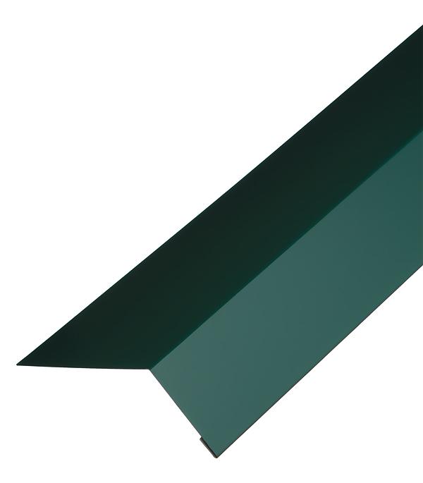 Планка карнизная для гибкой черепицы 100х60 мм 2 м зеленая RAL 6005 желоб водосточный металлический 125 мм коричневый 2 5 м grand line