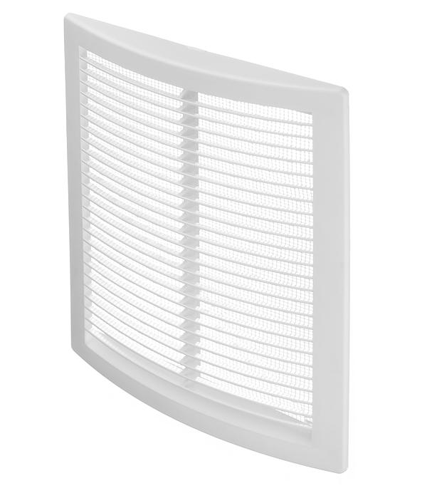 Решетка вентиляционная пластиковая приточно-вытяжная ERA 180х250 мм с сеткой белая решетка вентиляционная планета э1724н наклонные жалюзи с сеткой 175х240 мм