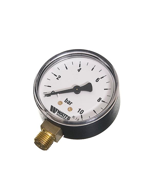 Манометр радиальный Watts 1/4 нар(ш) 10 бар d63 мм цена