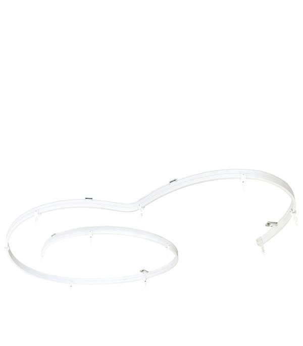 Карниз потолочный пластмассовый гибкий 350 см белый европласт 1 50 274 флекс европласт потолочный карниз гибкий