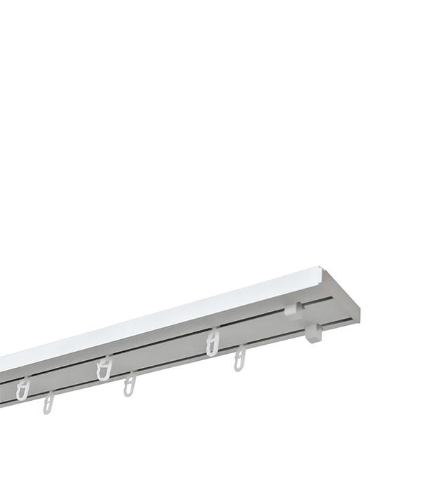 Карниз потолочный пластмассовый двухрядный 280 см белый