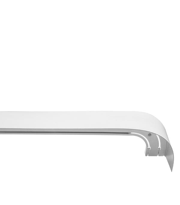 Фото - Карниз потолочный пластмассовый двухрядный с блендой 200 см белый карниз потолочный пластмассовый двухрядный стандартный 200 см белый