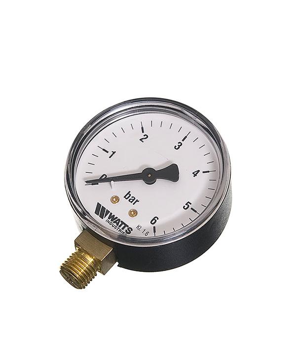 купить Манометр радиальный Watts 1/4 нар(ш) 6 бар d63 мм недорого