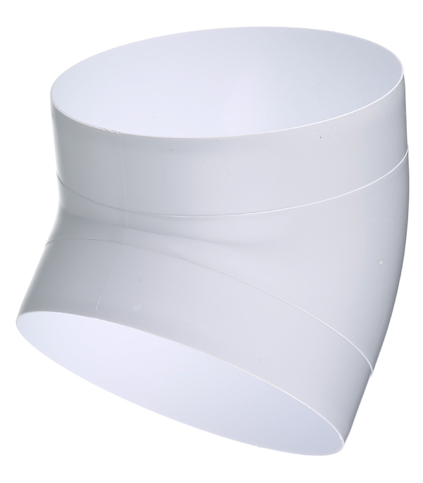 Колено для круглых воздуховодов пластиковое d160 мм 45° цена