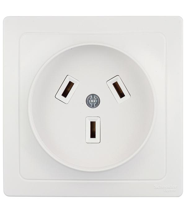 Розетка силовая с/у 2Р+N, 32А, 250В, Schneider Electric Blanca белый автоматический выключатель tdm ва47 63 2р 32а sq0218 0013