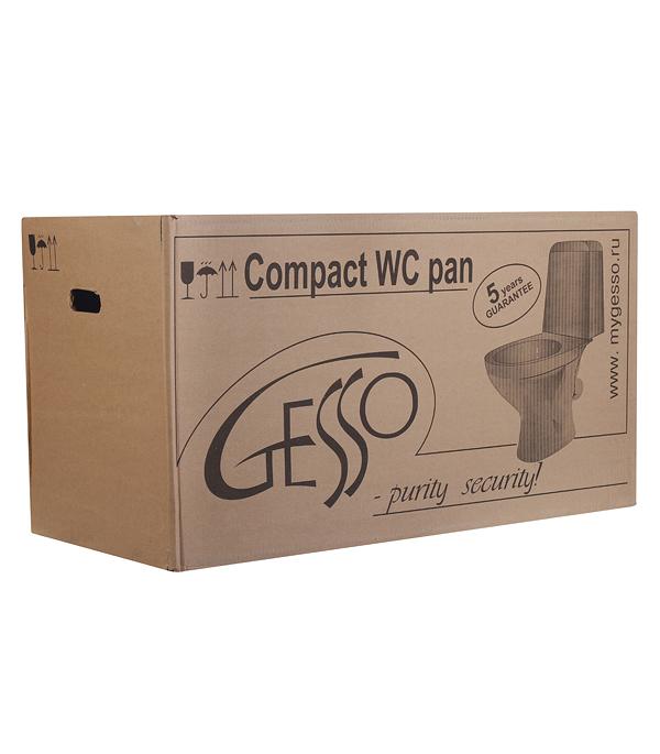 Унитаз-компакт GESSO Home de luxe W102  с косым выпуском c сиденьем пластик.