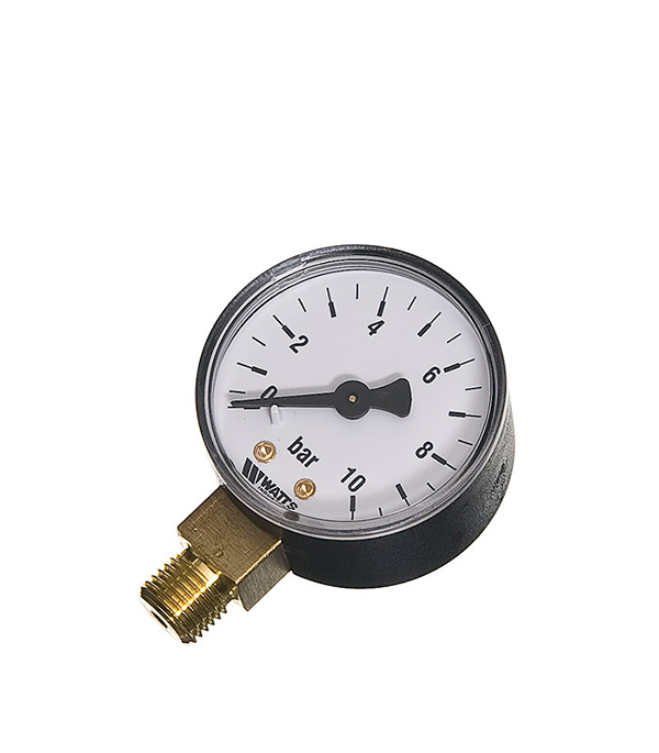 Манометр радиальный Watts 1/4 нар(ш) 10 бар d50 мм цена