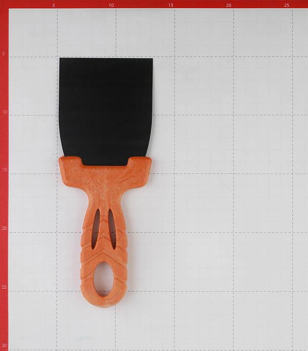 Шпатель малярный 80 мм с оксидированным полотном фото