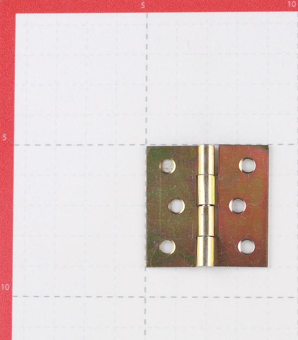 Петля 8014 карточная универсальная неразъемная 40х40 мм золото фото