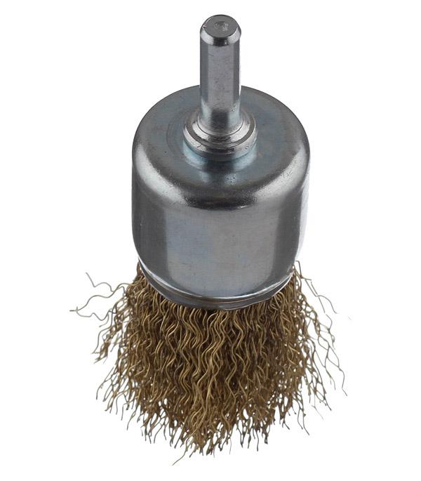 цены Кордщетка для дрели Практика d= 30 мм кистеобразная мягкая