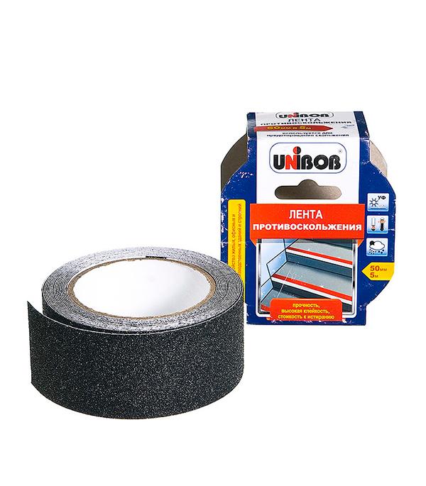 цена Лента клейкая Unibob черная противоскольжения 50 мм х 5 м