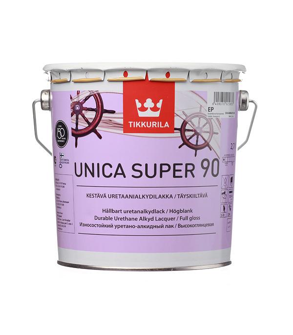 Лак яхтный уретано-алкидный Тиккурила Unica Super 90 высокоглянцевый основа EP 2,7 л все цены