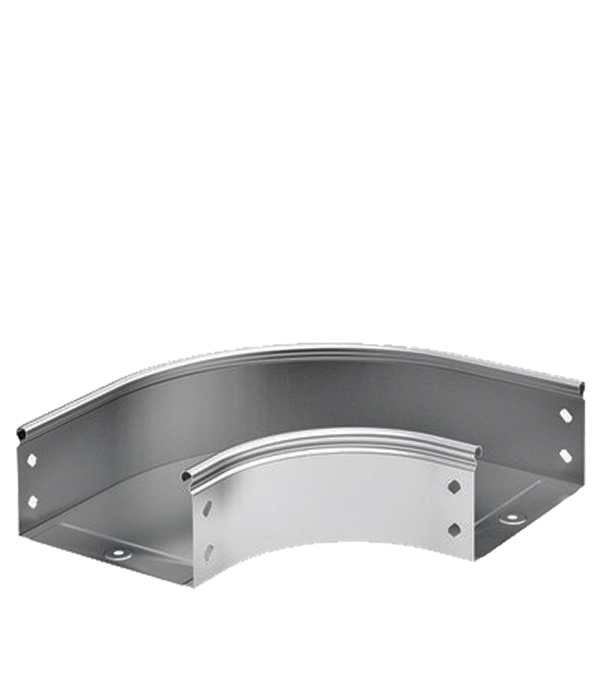 Угол горизонтальный 90° ДКС для лотка 300х50 мм ответвитель т образный горизонтальный для лотка 200х50 дкс
