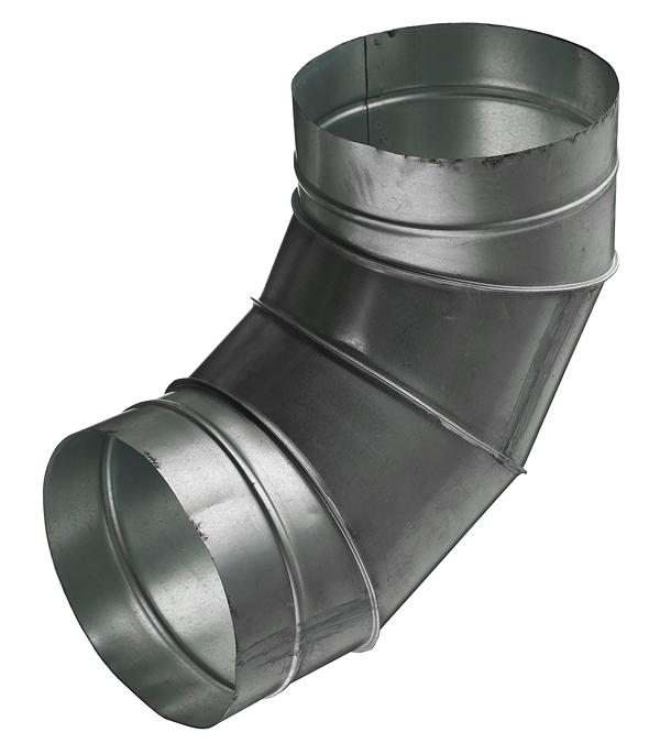 Отвод для круглых воздуховодов d200 мм 90° оцинкованный