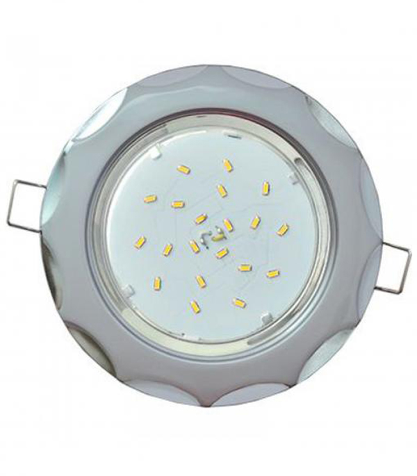 Светильник встраиваемый для лампы GX53 116мм волна серебро-хром