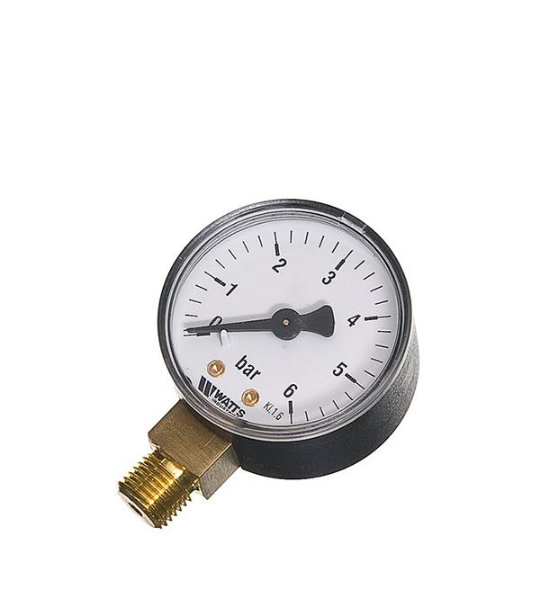 купить Манометр радиальный Watts 1/4 нар(ш) 6 бар d50 мм недорого