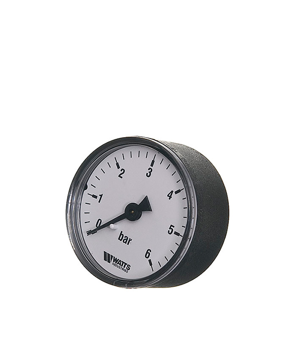 купить Манометр аксиальный Watts 1/4 нар(ш) 6 бар d50 мм недорого