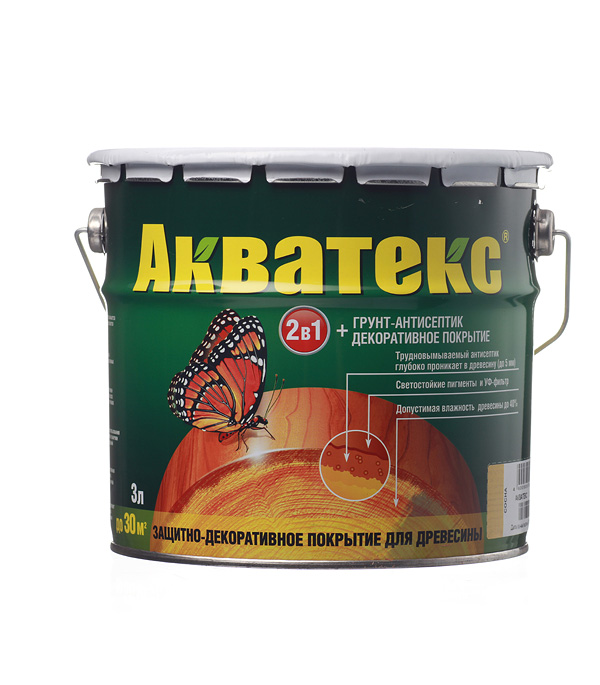 цены Антисептик Акватекс декоративный для дерева сосна 3 л