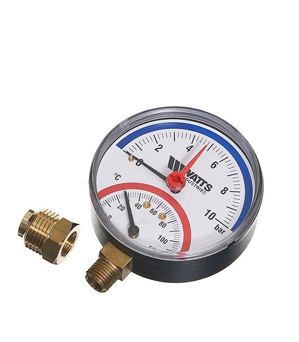 купить Термоманометр радиальный Watts 1/2 нар(ш) 10 бар 120°С недорого
