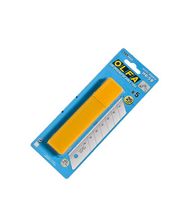 цена Лезвие для ножа Olfa Профи 25 мм прямое (5 шт.) онлайн в 2017 году