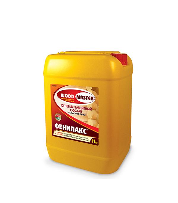 цены Антисептик Woodmaster Фенилакс огнебиозащитный I группа золотисто-коричневый 25 кг