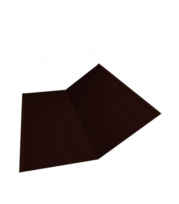 Фото - Ендова внутренняя PE 300х300 мм 2 м темно-коричневая RR 32 м 300х300