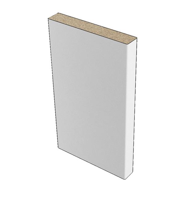 Наличник прямой Verda ДПГ ламинированная финишпленка белое гладкое 70х8х2150 мм (1 шт.)