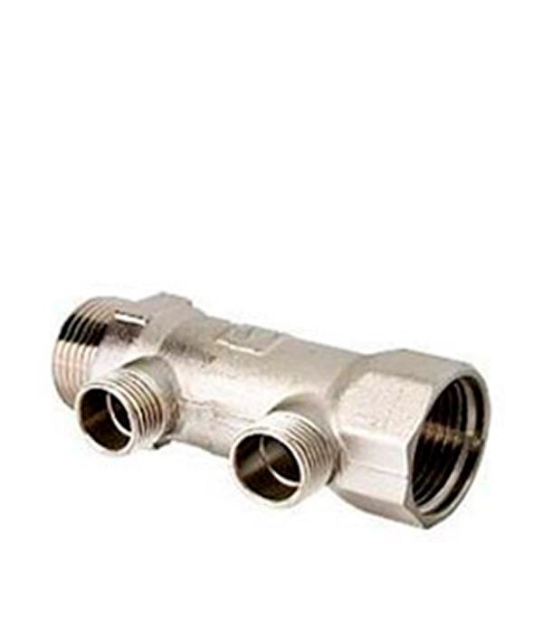 Коллектор VALTEC (VTc.500.N.0602) 1 ВР(г) х 2 выхода 1/2 НР(ш) х 1 НР(ш) клапан предохранительный автоматический far fa 2004 121260 1 2 нр ш х 1 2 вр г 6 бар для систем отопления