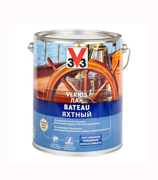 Лак алкидно-уретановый яхтный V33  бесцветный 0,75 л глянцевый