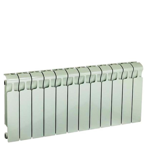 Радиатор биметаллический Rifar Monolit 350 мм 12 секций 3/4 боковое подключение белый биметаллический радиатор rifar рифар b 500 нп 10 сек лев кол во секций 10 мощность вт 2040 подключение левое