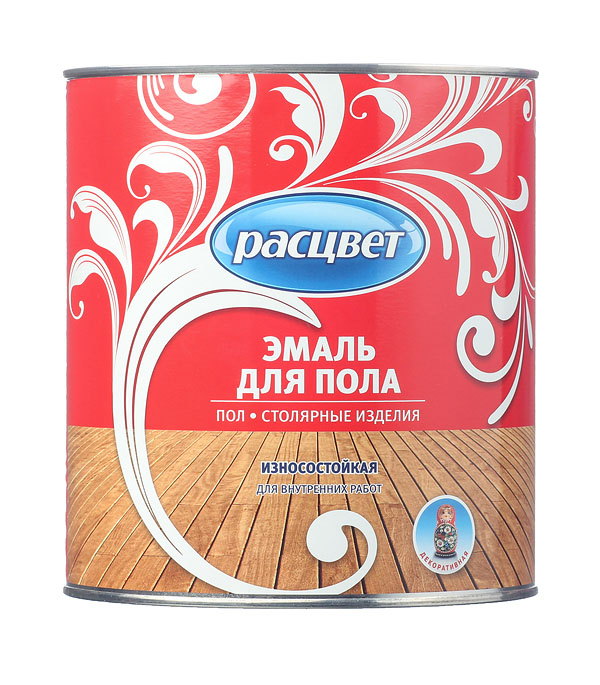 цена на Эмаль ПФ-266 для деревянных полов красно-коричневая Расцвет Empils 2,7 кг