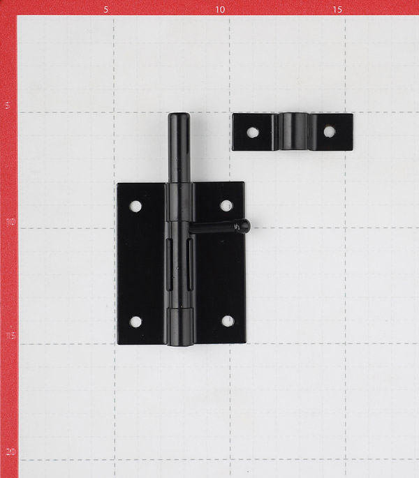 Шпингалет GAH ALBERTS 100 мм черный