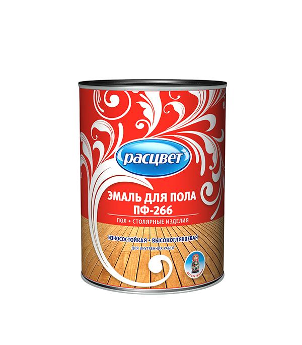 цена на Эмаль ПФ-266 для деревянных полов красно-коричневая Расцвет Empils 0,9 кг