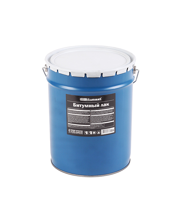 Лак битумный Bitumast 18 кг/21.5 л мастика гидроизоляционная bitumast 18 кг 21 5 л