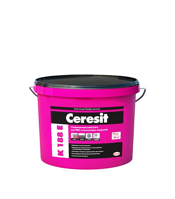 Клей для напольных ПВХ покрытий Ceresit K 188 E 12 кг