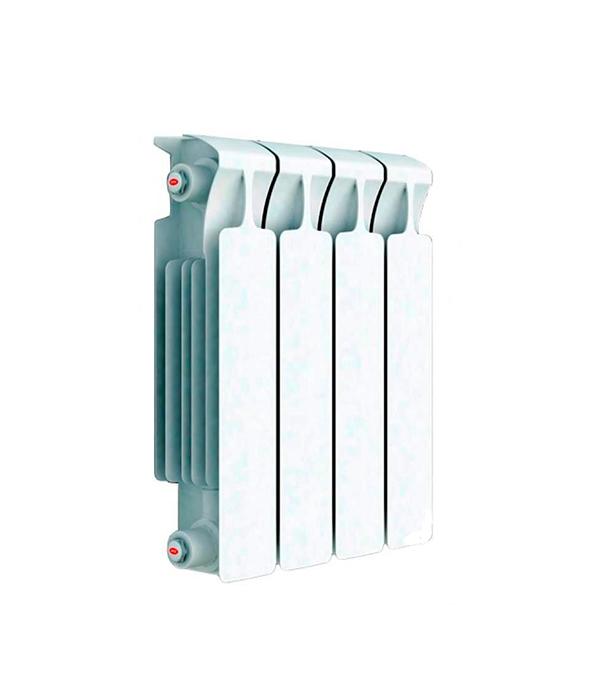 Радиатор биметаллический Rifar Monolit 350 мм 4 секции 3/4 боковое подключение белый биметаллический радиатор rifar рифар b 500 нп 10 сек лев кол во секций 10 мощность вт 2040 подключение левое