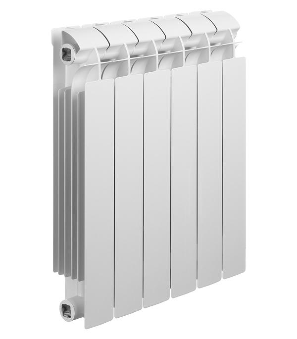Радиатор биметаллический Global Style Plus 500 мм 6 секций 1 боковое подключение белый биметаллический радиатор rifar рифар b 500 нп 10 сек лев кол во секций 10 мощность вт 2040 подключение левое