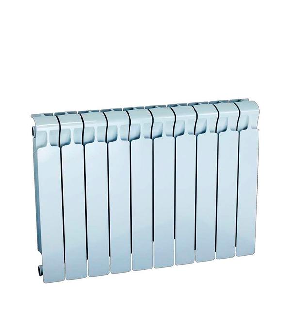 Радиатор биметаллический Rifar Monolit 500 мм 10 секций 3/4 боковое подключение белый биметаллический радиатор rifar рифар b 500 нп 10 сек лев кол во секций 10 мощность вт 2040 подключение левое