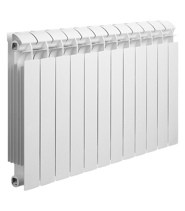 Радиатор биметаллический Global Style Plus 500 мм 12 секций 1 боковое подключение белый биметаллический радиатор rifar рифар b 500 нп 10 сек лев кол во секций 10 мощность вт 2040 подключение левое