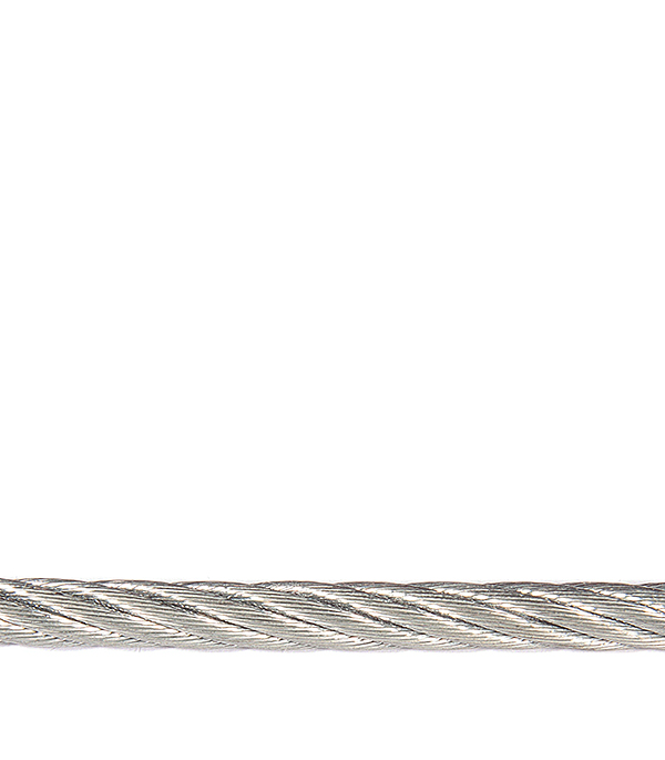 Купить Трос стальной оцинкованный d4 мм DIN 3055, Сталь