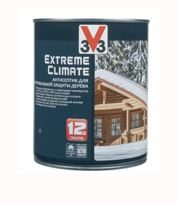 Антисептик V33  Extreme Climate декоративный для дерева серебро 0,9 л