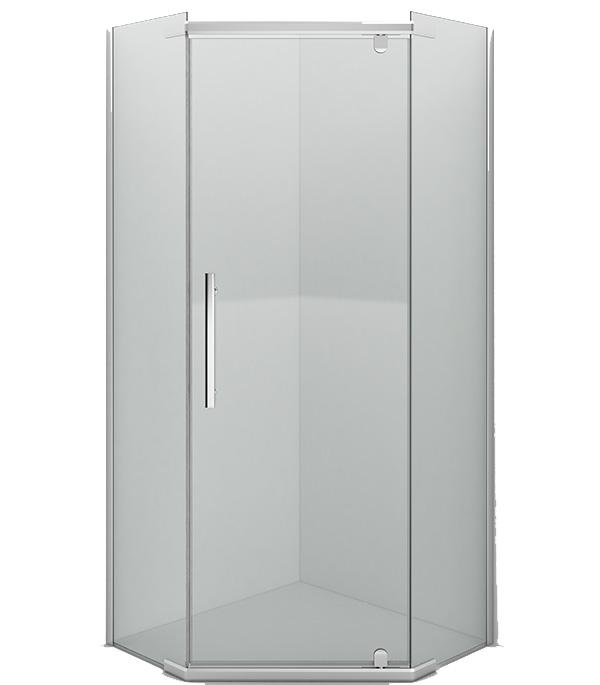 Душевое ограждение ERLIT ER10110V-C1 98,5х98,5х200 см пятиугольник к низкому поддону прозрачное стекло 6 мм