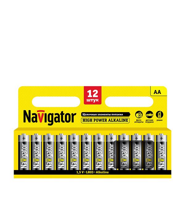 Батарейка Navigator АА пальчиковая LR6 1,5 В 2900 мАч (12 шт.)