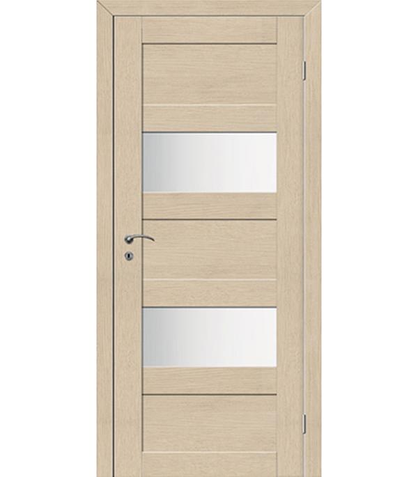 Дверное полотно экошпон TREND 5P капучино 720x2000 мм со стеклом с притвором дверное полотно экошпон trend 5p капучино 820x2000 мм глухое с притвором