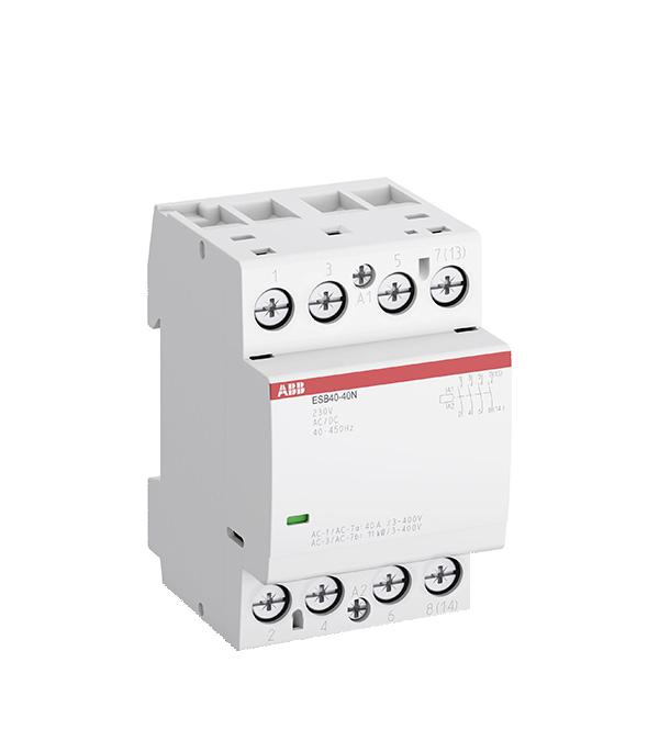 Контактор модульный ABB ESB (1SAE341111R0640) 230 В 40 А тип AC/DС 4НО контактор esb 20 11 ac abb ghe3211302r0006