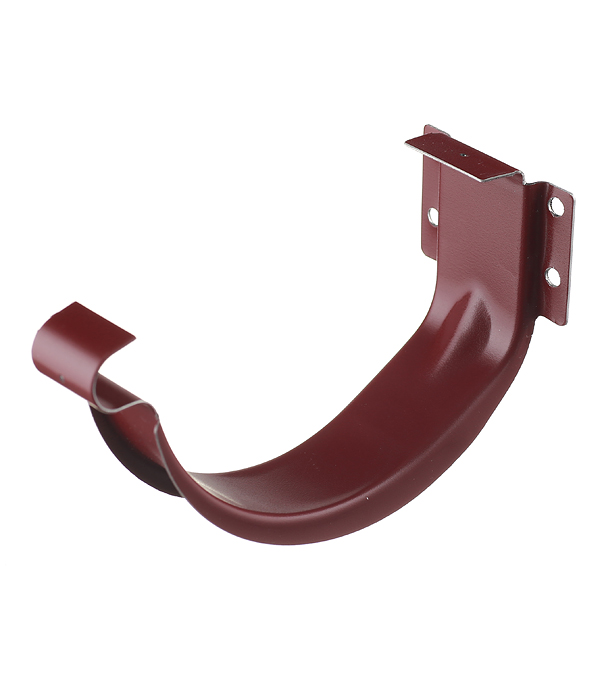 Кронштейн крюк желоба металлический Grand Line 70 мм красное вино цена и фото