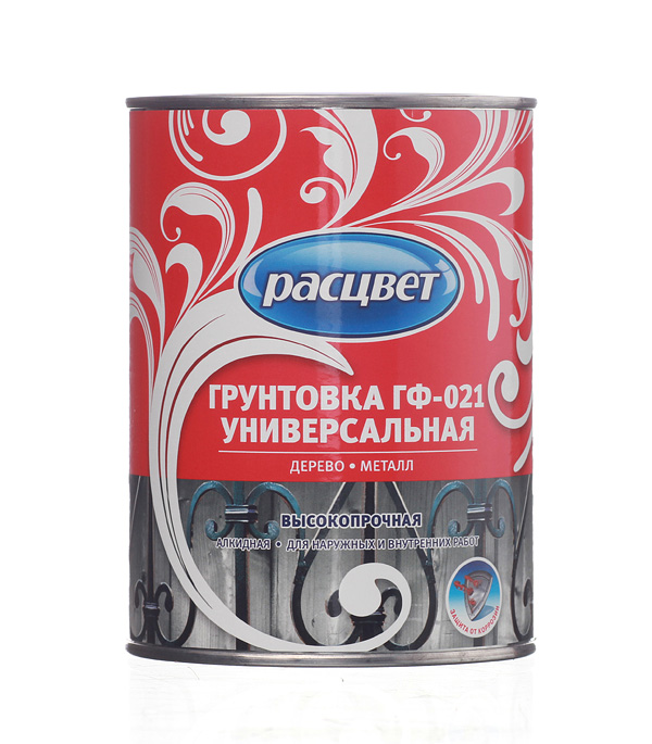Грунт Расцвет ГФ-021 серый 0,9 кг
