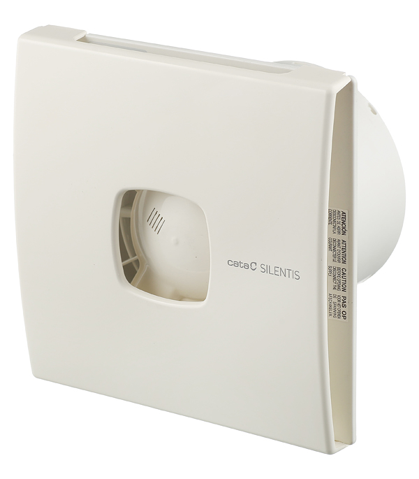 Вентилятор осевой Cata Silentis 12 170х170 мм d120 мм слоновая кость вентилятор cata silentis 15 inox