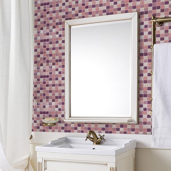 Мозаика Caramelle Lavander стеклянная 298х298х4 мм глянцевая