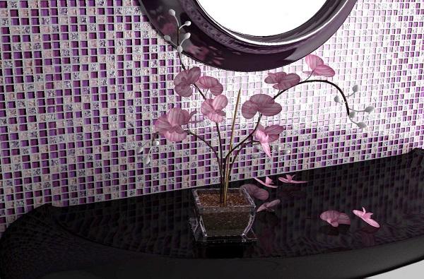 Мозаика Caramelle Himalaia из стекла и камня 305х305х8 мм глянцевая